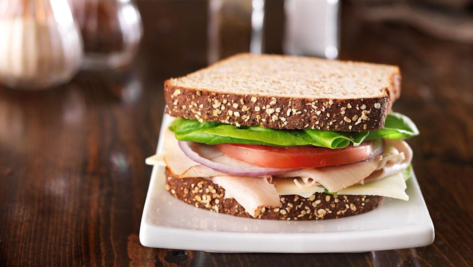 "<p>Ditch the deli. ""Even the lower-fat versions of cured lunch meats contain the preservative sodium nitrate,"" says Suzanne Fisher, RD, LDN, founder of <u><a href=""https://fishernutritionsystems.com/"" rel=""nofollow noopener"" target=""_blank"" data-ylk=""slk:Fisher Nutrition Systems"" class=""link rapid-noclick-resp"">Fisher Nutrition Systems</a></u> in Cooper City, Florida. </p><p>Nitrates may increase <u><a href=""https://academic.oup.com/ajcn/article/90/1/1/4596750"" rel=""nofollow noopener"" target=""_blank"" data-ylk=""slk:internal inflammation"" class=""link rapid-noclick-resp"">internal inflammation</a></u>, and ""chronic inflammation has a direct link to the development of atherosclerosis,"" the stiffening or narrowing of the arteries, she adds.</p>"