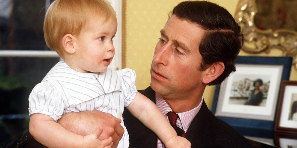 <p>At home with a young Prince Harry.</p>