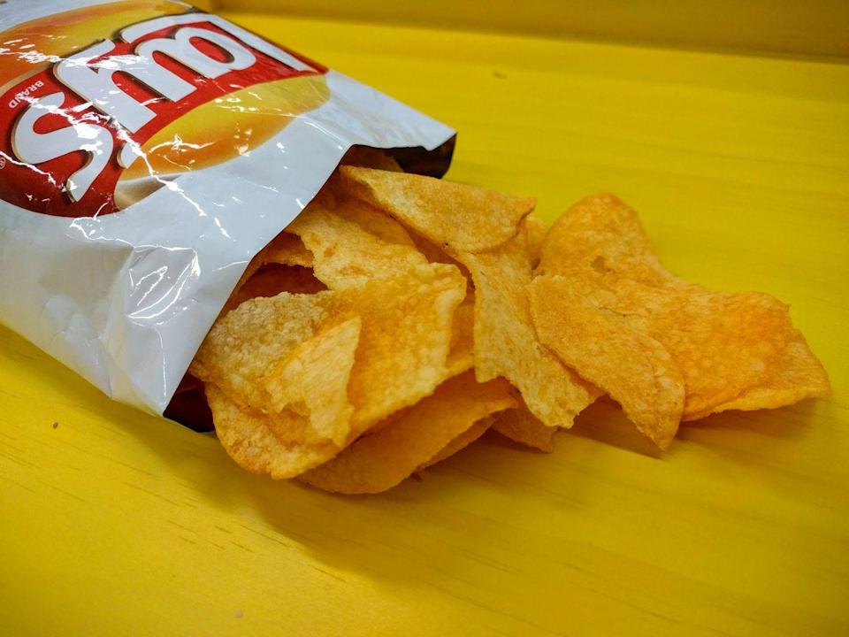 """<p>Making your favorite potato chips requires a whole lot of spuds. A Frito-Lay plant in Georgia has reported cooking almost 1 million pounds of potatoes every day to make an average of 175,000 boxes of <a href=""""/food-news/a50867/facts-lays-potato-chips/"""" data-ylk=""""slk:Lay's"""" class=""""link rapid-noclick-resp"""">Lay's</a>.</p>"""