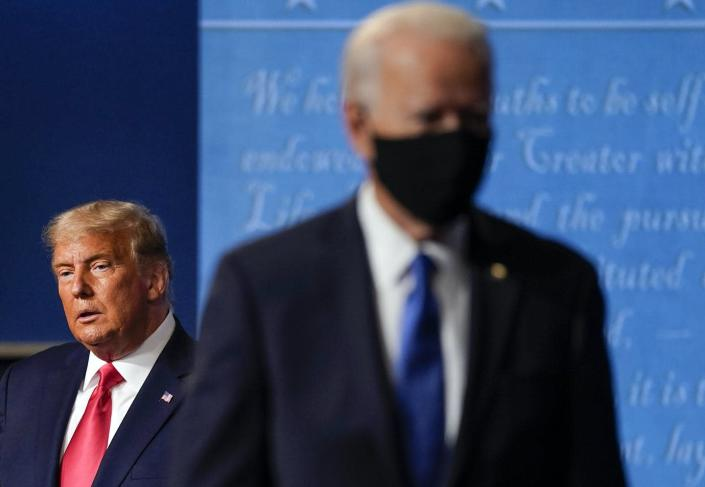 """<span class=""""caption"""">Some Americans are looking past Joe Biden, seeking the return of Donald Trump as president.</span> <span class=""""attribution""""><a class=""""link rapid-noclick-resp"""" href=""""https://newsroom.ap.org/detail/Election2020-Wisconsin/35f39fc79ea846e8830d1257dfd8cf37/photo"""" rel=""""nofollow noopener"""" target=""""_blank"""" data-ylk=""""slk:AP Photo/Julio Cortez"""">AP Photo/Julio Cortez</a></span>"""