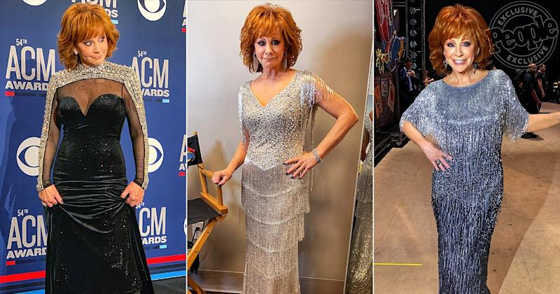 31c0f1b6e7 All About Reba McEntire s 7 Major Outfit Changes at the 2019 ACMs