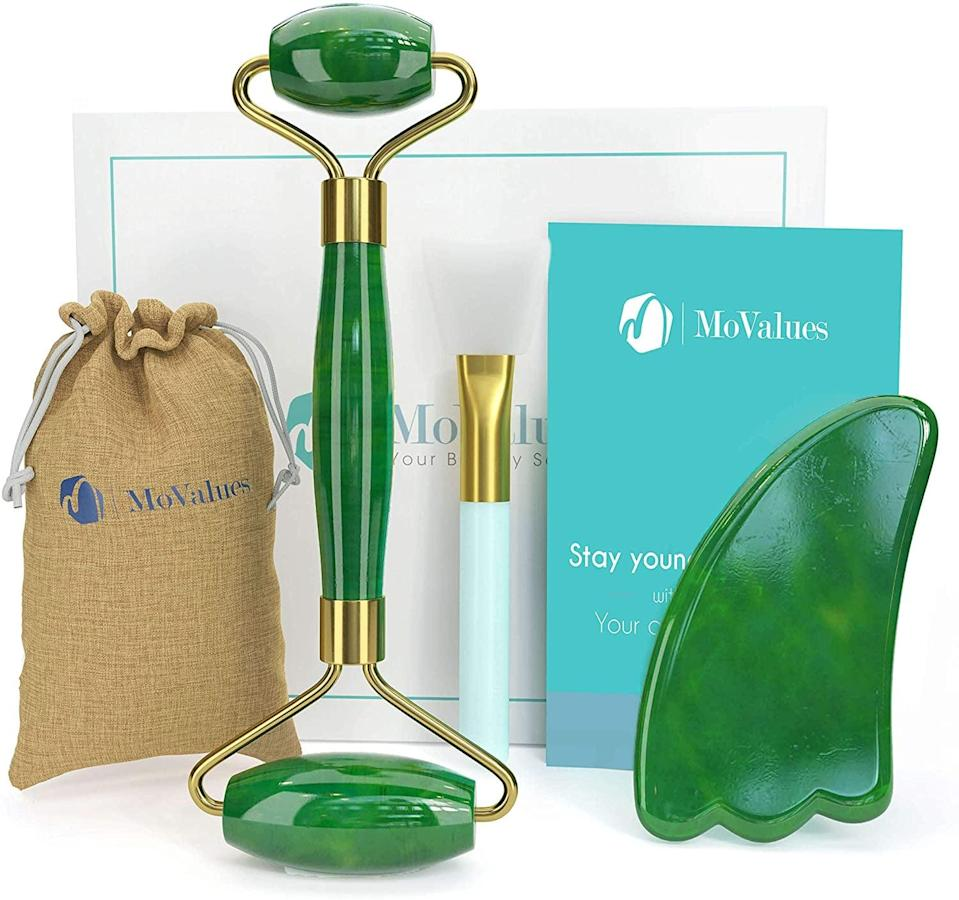 <p>This <span>Original Jade Roller and Gua Sha Set</span> ($19) is pretty awesome.</p>