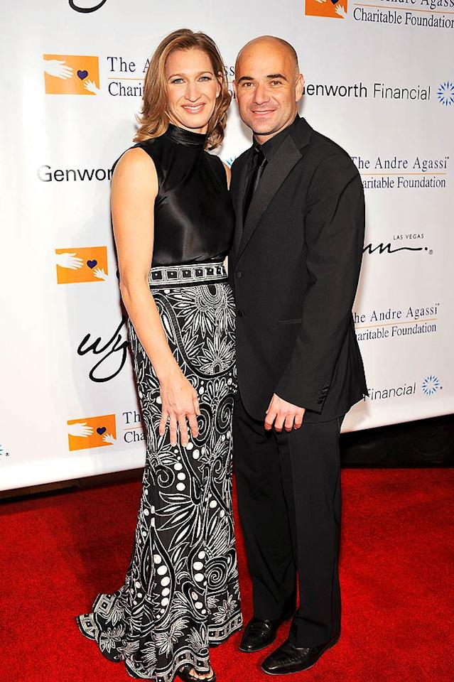 "Since retiring from professional tennis, Andre Agassi and Steffi Graf have dedicated themselves to helping underprivileged children and their families. Denise Truscello/<a href=""http://www.wireimage.com"" target=""new"">WireImage.com</a> - October 11, 2008"