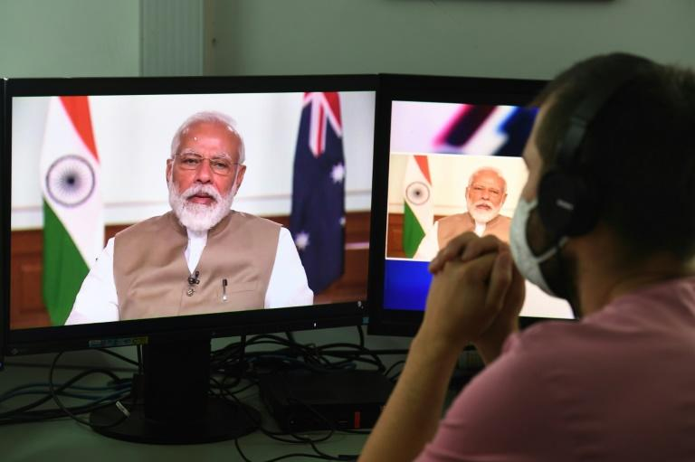 Prime Minister Narendra Modi's government has banned TikTok and 58 other Chinese apps citing security concerns (AFP Photo/Prakash SINGH)
