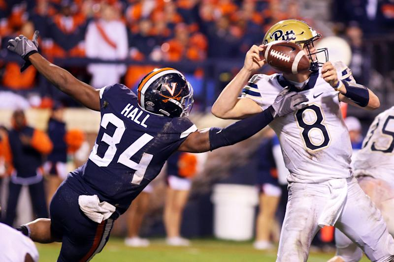 Virginia CB Bryce Hall should have a nice test vs. Pitt in the opener. (Getty Images)