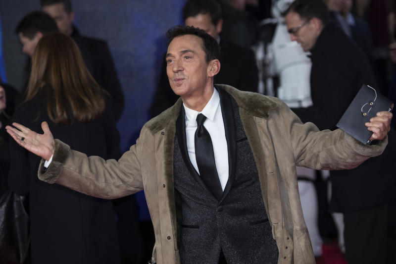 Bruno Tonioli poses for photographers upon arrival at the premiere of the film 'Star Wars: The Last Jedi' in London, Tuesday, Dec. 12th, 2017. (Photo by Vianney Le Caer/Invision/AP)
