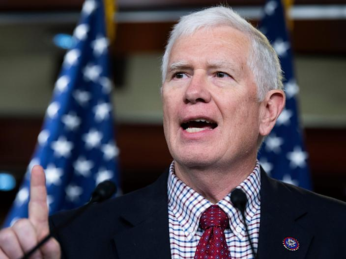 Republican Rep. Mo Brooks will hold a press conference at the Capitol Visitor Center on Tuesday, June 15, 2021.