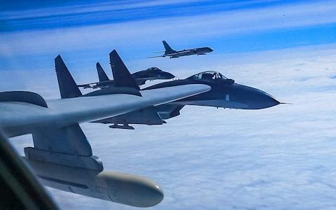 <span>The drills took place over the weekend</span> <span>Credit: Barcroft/Xinhua </span>