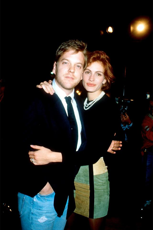 """<p>Sutherland and Roberts <em>nearly</em> made it down the aisle in 1991, but the actress called it off days before the ceremony was set to take place. As <em>People</em> <a rel=""""nofollow"""" href=""""http://people.com/archive/cover-story-miss-roberts-regrets-vol-35-no-25?mbid=synd_yahoostyle"""">noted</a> at the time, the affair was to be a lavish one at 20th Century Fox's Soundstage 14. During an <a rel=""""nofollow"""" href=""""https://www.aol.com/article/entertainment/2016/09/27/kiefer-sutherland-julia-roberts-engagement/21480339?mbid=synd_yahoostyle"""">interview</a> with <b>Jess Cagle</b> last year, Sutherland said fame played a role in their engagement's end. """"We had decided we wanted to get married, but then this other thing kind of took over,"""" he said. """"She was arguably the most famous woman in the world, and this wedding that was supposed to be something between the two of us became something so big.""""</p>"""