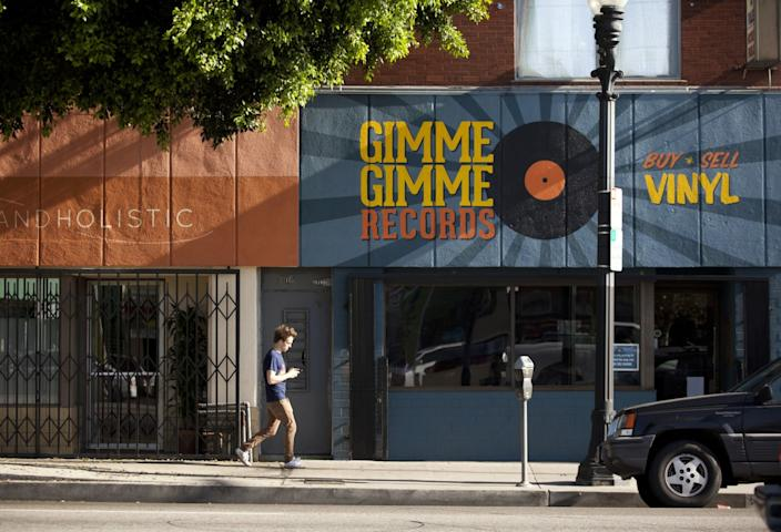 "Daniel Cook, owner of Gimme Gimme Records, says his revenue is down 50% because of the pandemic. It's ""better than a lot of people but we're not gonna have a good year."" <span class=""copyright"">(Jenna Schoenefeld / For the Times)</span>"