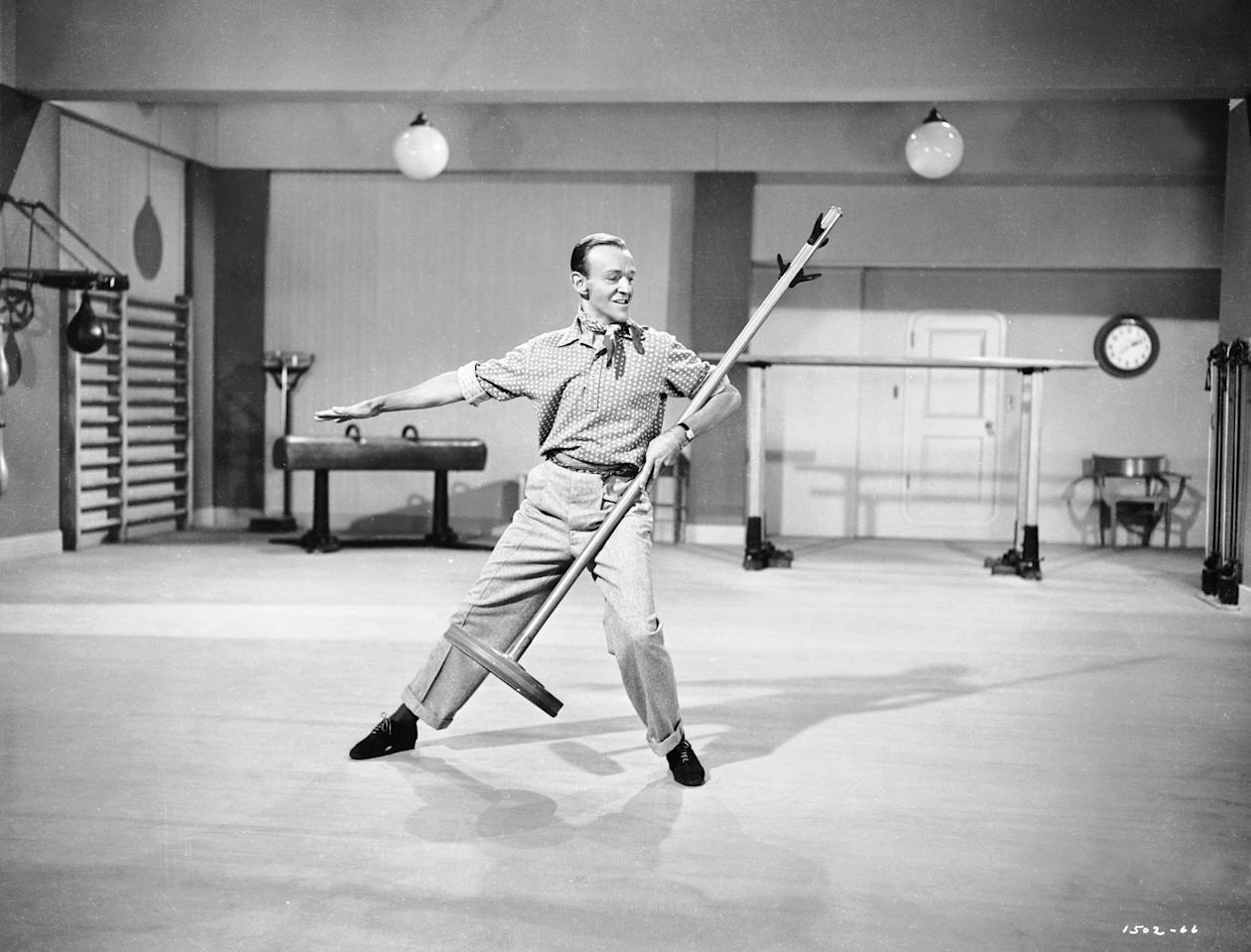"""This image released by Turner Classic Movies shows Fred Astaire in a scene from the 1951 film, """"Royal Wedding."""" Turner Classic holds a unique place on the dial and in the hearts of cinephiles. But for many filmmakers, TCM isn't just a favorite channel, it's a lifeblood. Among directors from Martin Scorsese to Paul Thomas Anderson it's a common refrain that Turner Classic is a constant source of inspiration and a beloved background in their lives (Turner Classic Movies via AP)"""