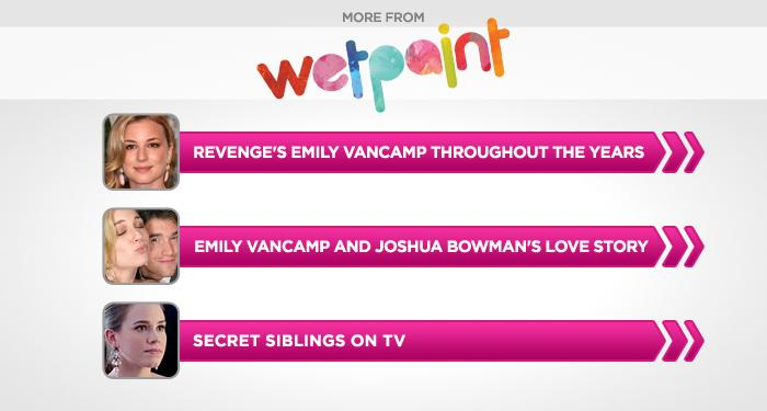 """<br><br><br><br><br><br><a href=""""http://www.wetpaint.com/revenge/gallery/revenges-emily-vancamp-throughout-the-years-photos?utm_source=yahoo.com&utm_medium=syndication&utm_campaign=yahoo"""">Emily VanCamp's Style Evolution (PHOTOS)</a><br><br><br><br><a href=""""http://www.wetpaint.com/revenge/gallery/emily-vancamp-and-joshua-bowmans-love-story-photos?utm_source=yahoo.com&utm_medium=syndication&utm_campaign=yahoo"""">Emily VanCamp and Joshua Bowman: A Love Story (PHOTOS)</a><br><br><br><br><a href=""""http://www.wetpaint.com/network/gallery/secret-siblings-on-tv-photos?utm_source=yahoo.com&utm_medium=syndication&utm_campaign=yahoo"""">Secret Siblings on TV (PHOTOS)</a>"""