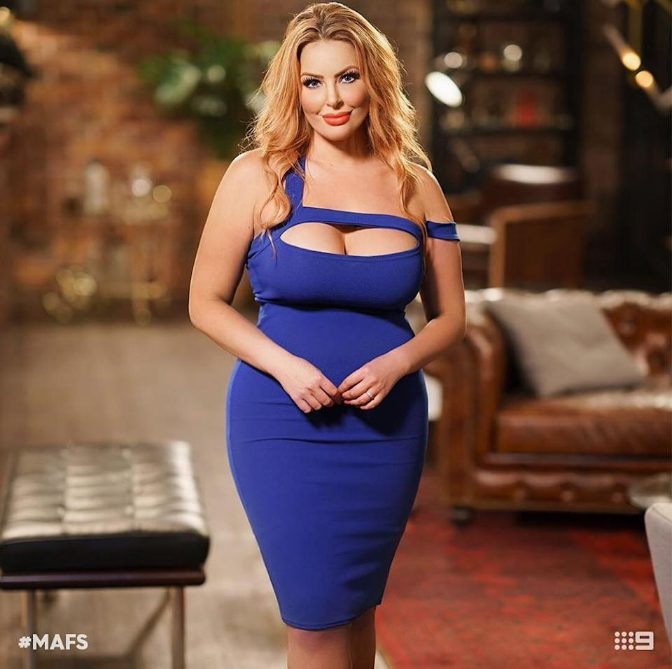 Sarah used to wear shapewear every day and now no longer needs to. Photo: Nine