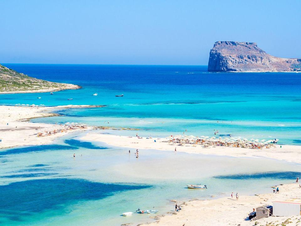<p>Famous for its turquoise waters, the wild natural beauty and the beautiful exotic scenery, Balos is arguably the most popular beach in Crete - and it's not hard to see why. </p>