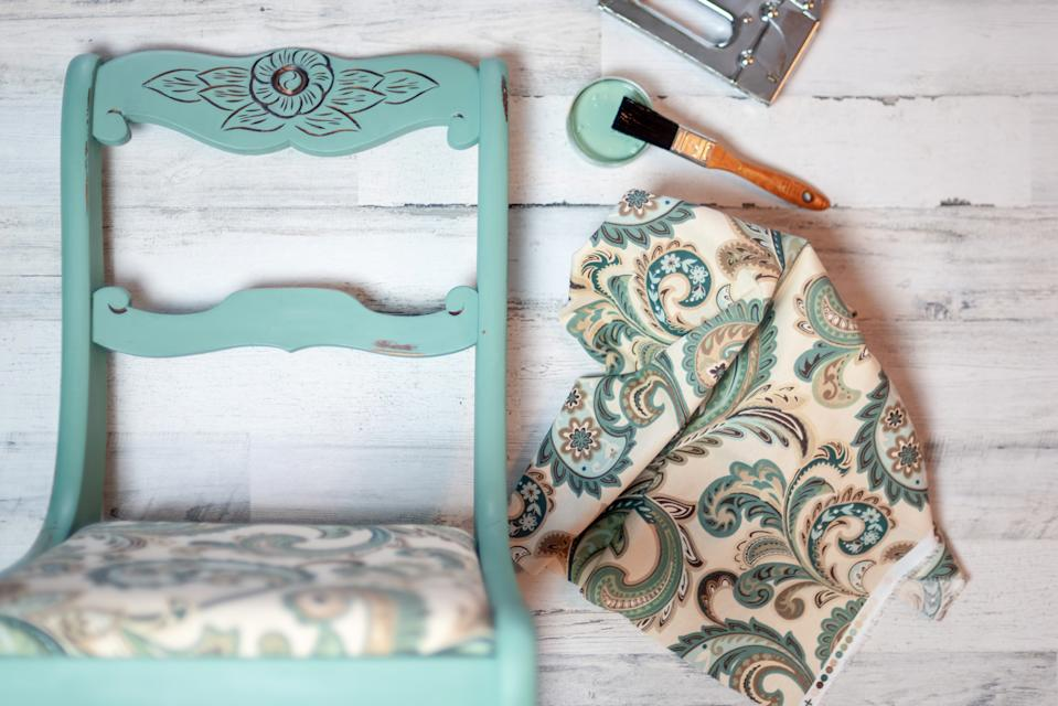 Recycle existing furniture by upholstering it, sanding down wooden chairs, and trying a new varnish, is also favourable.  (Getty Images)