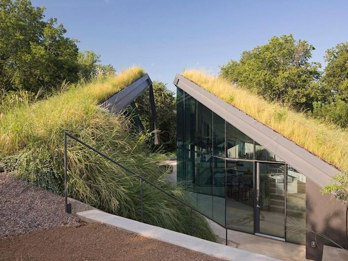 Edgeland House is a modern-day pit house.