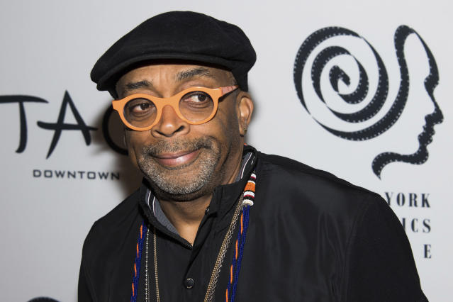 Spike Lee reportedly spent 45 minutes in a Zoom meeting with Saints players. (Photo by Charles Sykes/Invision/AP)