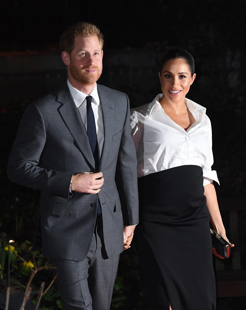 The Duke and Duchess of Sussex arriving at the Endeavour Fund Awards at Draper's Hall, London.  (Doug Peters/EMPICS Entertainment)