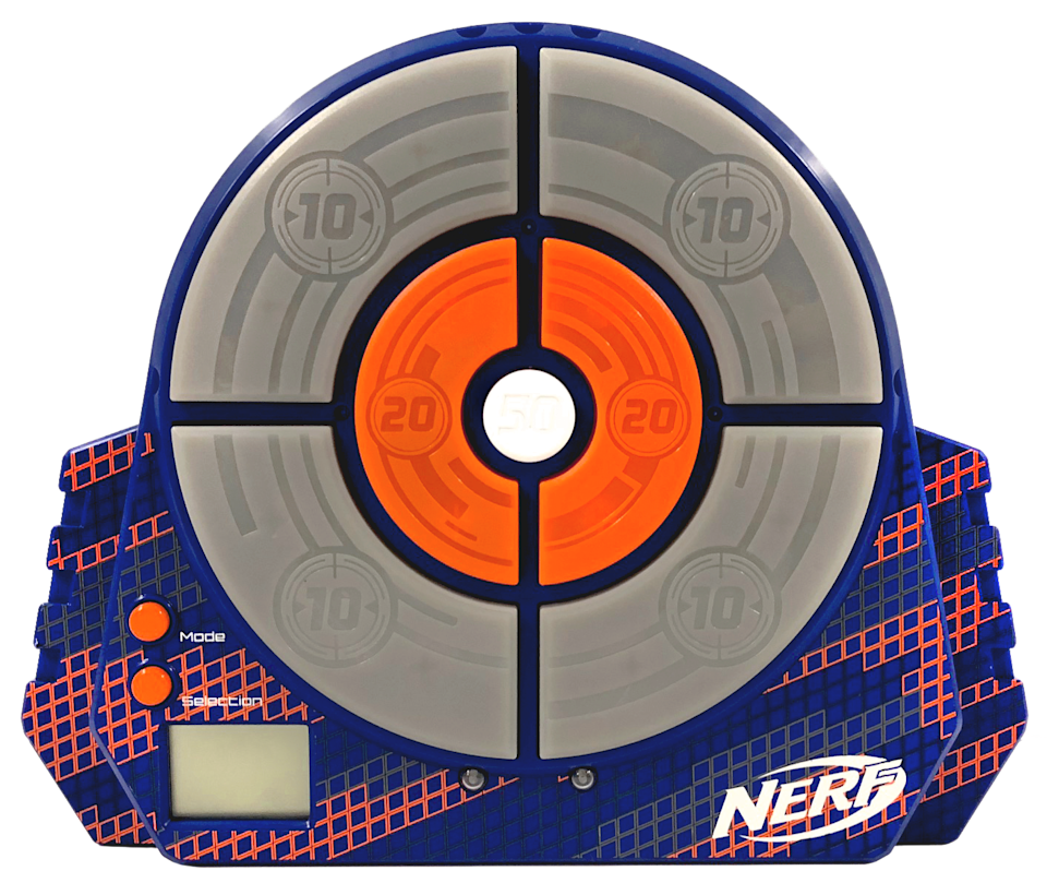 """<p><strong>Nerf</strong></p><p>walmart.com</p><p><strong>$16.99</strong></p><p><a href=""""https://go.redirectingat.com?id=74968X1596630&url=https%3A%2F%2Fwww.walmart.com%2Fip%2F770549032&sref=https%3A%2F%2Fwww.redbookmag.com%2Flife%2Ffriends-family%2Fg34828589%2Fholiday-gifts-for-kids-of-every-age%2F"""" rel=""""nofollow noopener"""" target=""""_blank"""" data-ylk=""""slk:Shop Now"""" class=""""link rapid-noclick-resp"""">Shop Now</a></p>"""