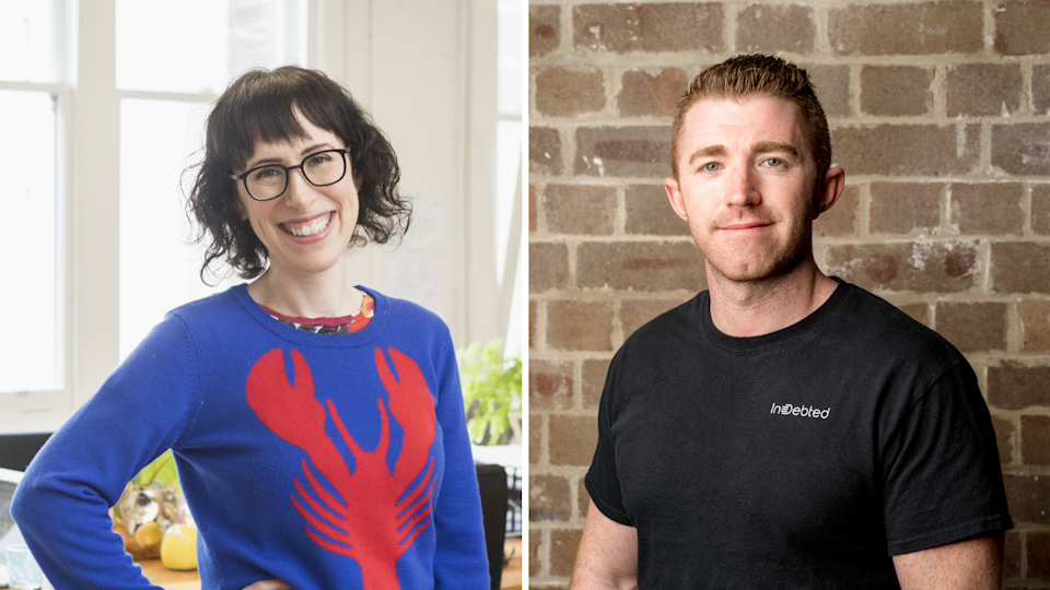 Amantha Imber and Josh Foreman have both introduced four-day weeks at their businesses, Inventium and InDebted. (Images: Supplied).