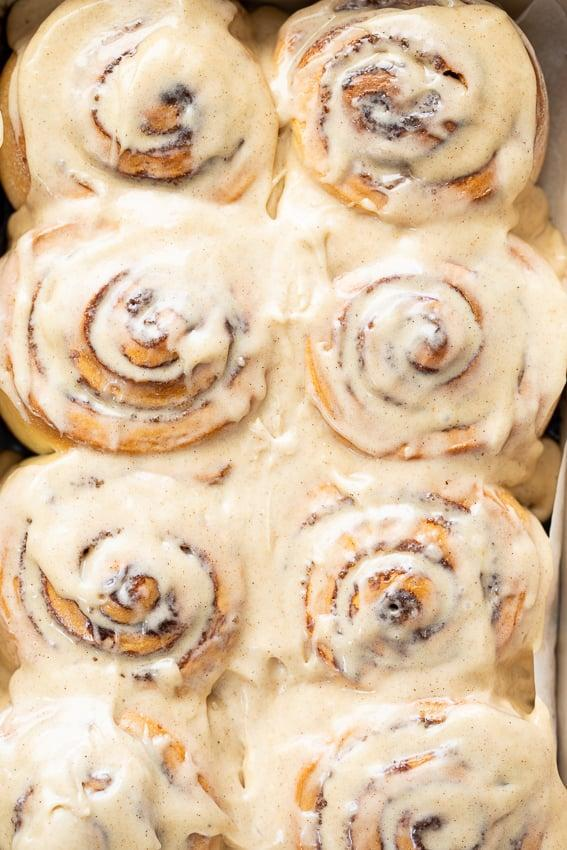 "<p>Craving comfort food, the residents of Illinois are cooking up icing-topped cinnamon rolls right now. This recipe gives the traditional rolls a new spin by adding a chai-spiced glaze to finish.</p> <p><strong>Get the recipe</strong>: <a href=""https://simply-delicious-food.com/cinnamon-rolls-with-chai-icing/"" class=""link rapid-noclick-resp"" rel=""nofollow noopener"" target=""_blank"" data-ylk=""slk:cinnamon rolls with chai icing"">cinnamon rolls with chai icing</a></p>"