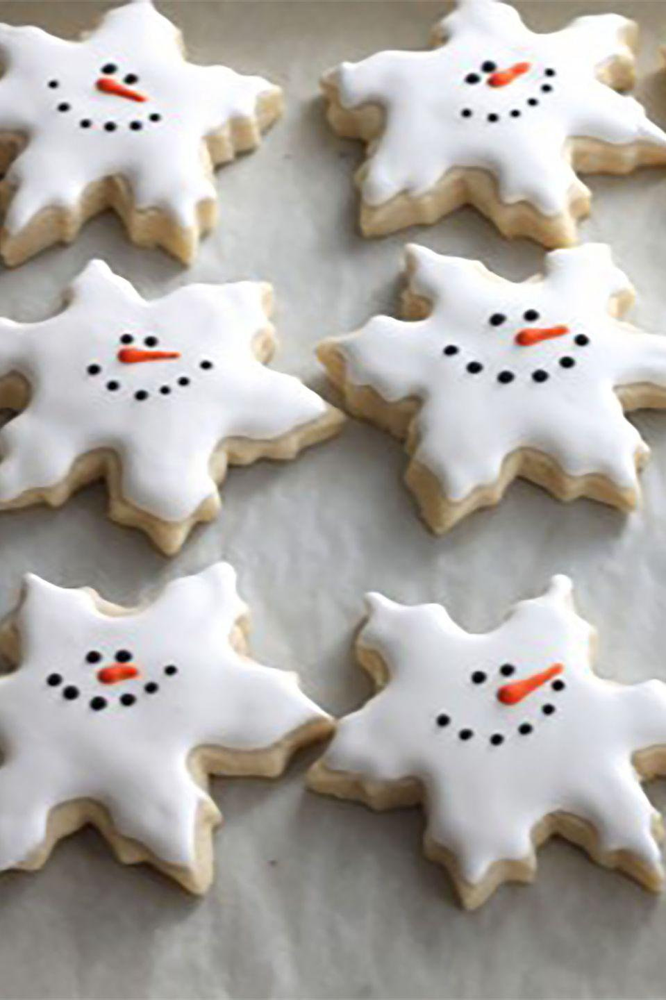 "<p>What's better than building a snowman? Eating one in cookie form, of course. </p><p><strong>Get the recipe at <a href=""http://www.createdby-diane.com/2012/12/snowman-snowflake-cookies.html"" rel=""nofollow noopener"" target=""_blank"" data-ylk=""slk:Created By Diane"" class=""link rapid-noclick-resp"">Created By Diane</a>.</strong> </p>"