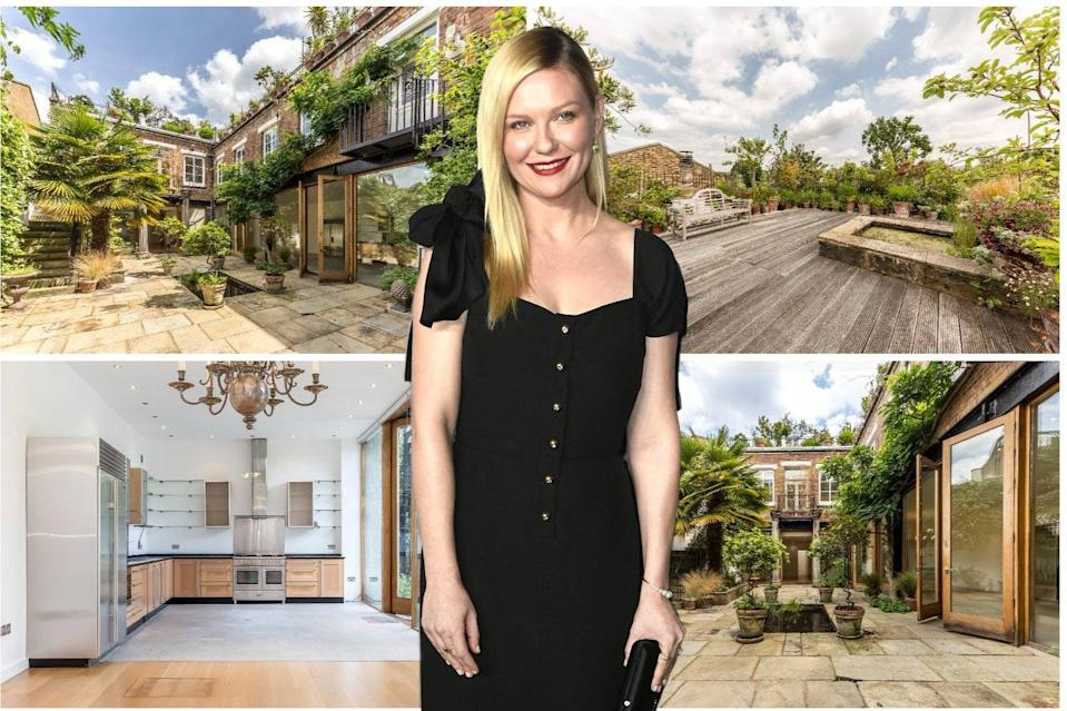 Kirsten Dunst lived at the Roman Way property while filming How to Lose Friends and Alienate People (ES composite)