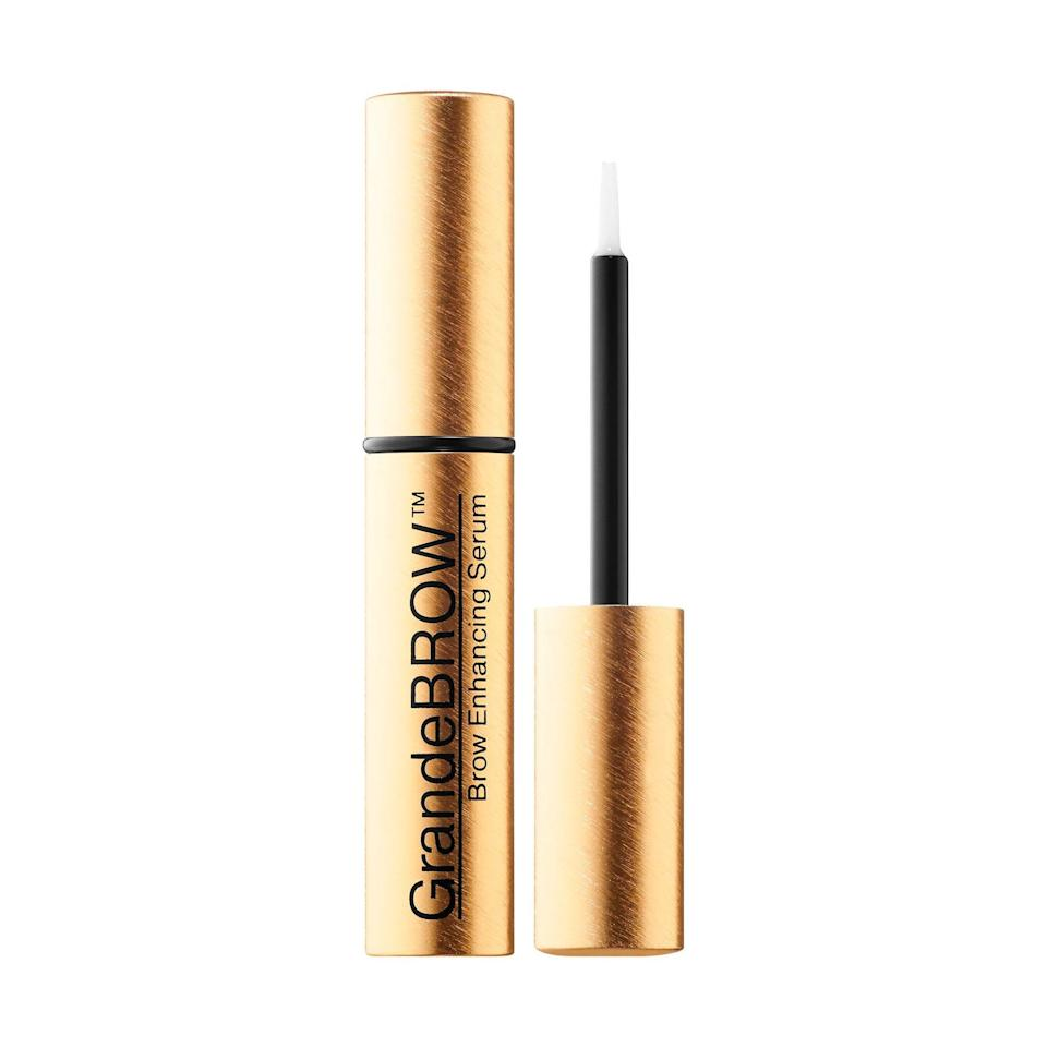 """<p><strong>Grande Cosmetics</strong></p><p>sephora.com</p><p><strong>$36.00</strong></p><p><a href=""""https://go.redirectingat.com?id=74968X1596630&url=https%3A%2F%2Fwww.sephora.com%2Fproduct%2Fgrandebrow-brow-enhancing-serum-mini-P444604&sref=https%3A%2F%2Fwww.oprahmag.com%2Fbeauty%2Fskin-makeup%2Fg32683991%2Fbest-eyebrow-gel%2F"""" rel=""""nofollow noopener"""" target=""""_blank"""" data-ylk=""""slk:SHOP NOW"""" class=""""link rapid-noclick-resp"""">SHOP NOW</a></p><p>Kick over-plucked eyebrows to the curb—this serum not only keeps those tiny hairs in place, it also contains peptides that make them fuller in just six to eight weeks, says Redzikowski, who calls it her """"holy grail."""" </p>"""