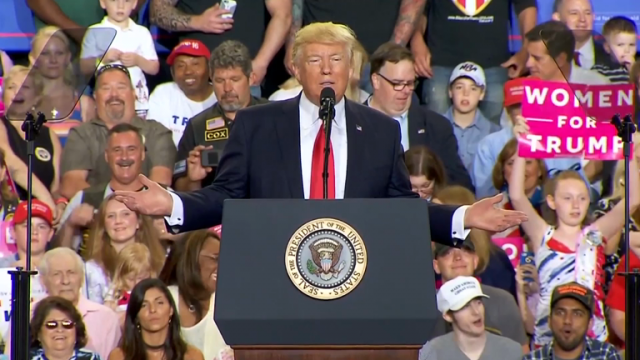 trump-blasts-media-at-100th-day-rally-in-pennsylvania
