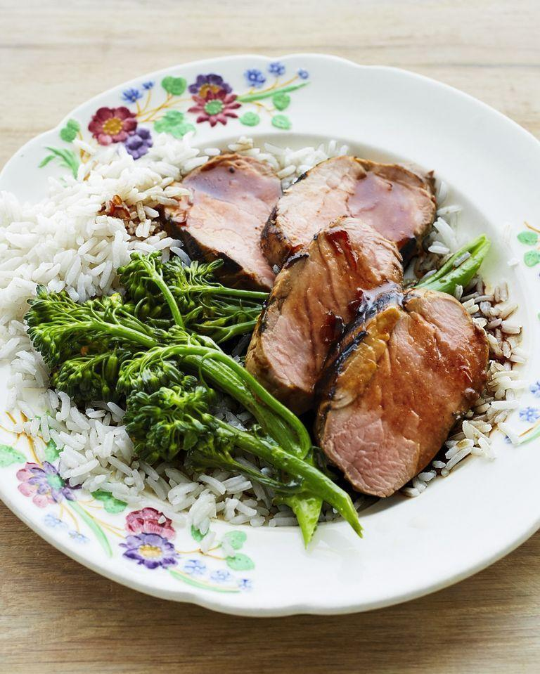 """<p>With ingredients like mirin, sesame oil, scallions, and fresh ginger, this marinade is packed with flavor. And once you've used it to marinate the meat, you can reduce it into a delicious sauce. </p><p><a href=""""https://www.thepioneerwoman.com/food-cooking/recipes/a32376585/grilled-pork-tenderloin-with-broccolini-recipe/"""" rel=""""nofollow noopener"""" target=""""_blank"""" data-ylk=""""slk:Get Ree's recipe."""" class=""""link rapid-noclick-resp""""><strong>Get Ree's recipe.</strong></a></p><p><a class=""""link rapid-noclick-resp"""" href=""""https://go.redirectingat.com?id=74968X1596630&url=https%3A%2F%2Fwww.walmart.com%2Fbrowse%2F4044_623679_133020_4496646_3072630&sref=https%3A%2F%2Fwww.thepioneerwoman.com%2Ffood-cooking%2Frecipes%2Fg36491151%2Fmarinade-recipes-for-grilling%2F"""" rel=""""nofollow noopener"""" target=""""_blank"""" data-ylk=""""slk:SHOP FOOD THERMOMETERS"""">SHOP FOOD THERMOMETERS</a></p>"""