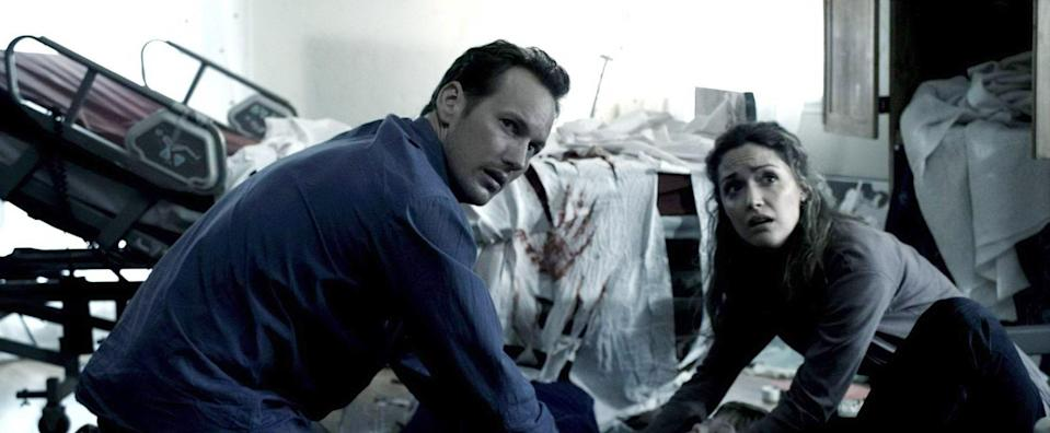 """<p>The movie that turned the haunted house on its head, blew up the box office, and began the partnership of director James Wan and star Patrick Wilson. Wilson and Rose Byrne play the parents of a comatose boy who is possessed by a demon, but they're not giving up the fight for his soul so easily.</p> <p><a href=""""https://www.netflix.com/watch/70142542?source=35"""" rel=""""nofollow noopener"""" target=""""_blank"""" data-ylk=""""slk:Available on Netflix"""" class=""""link rapid-noclick-resp""""><em>Available on Netflix</em></a></p>"""