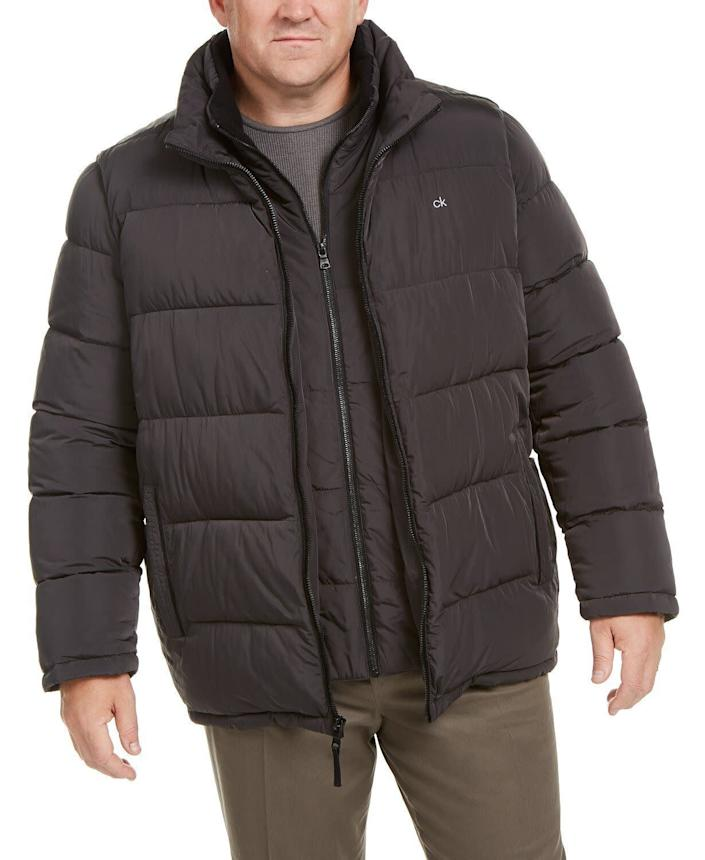"""This jacket comes in sizes LT to 4XL. <a href=""""https://fave.co/3ahrieC"""" rel=""""nofollow noopener"""" target=""""_blank"""" data-ylk=""""slk:Find it at Macy's"""" class=""""link rapid-noclick-resp""""><strong>Find it at Macy's</strong></a>."""