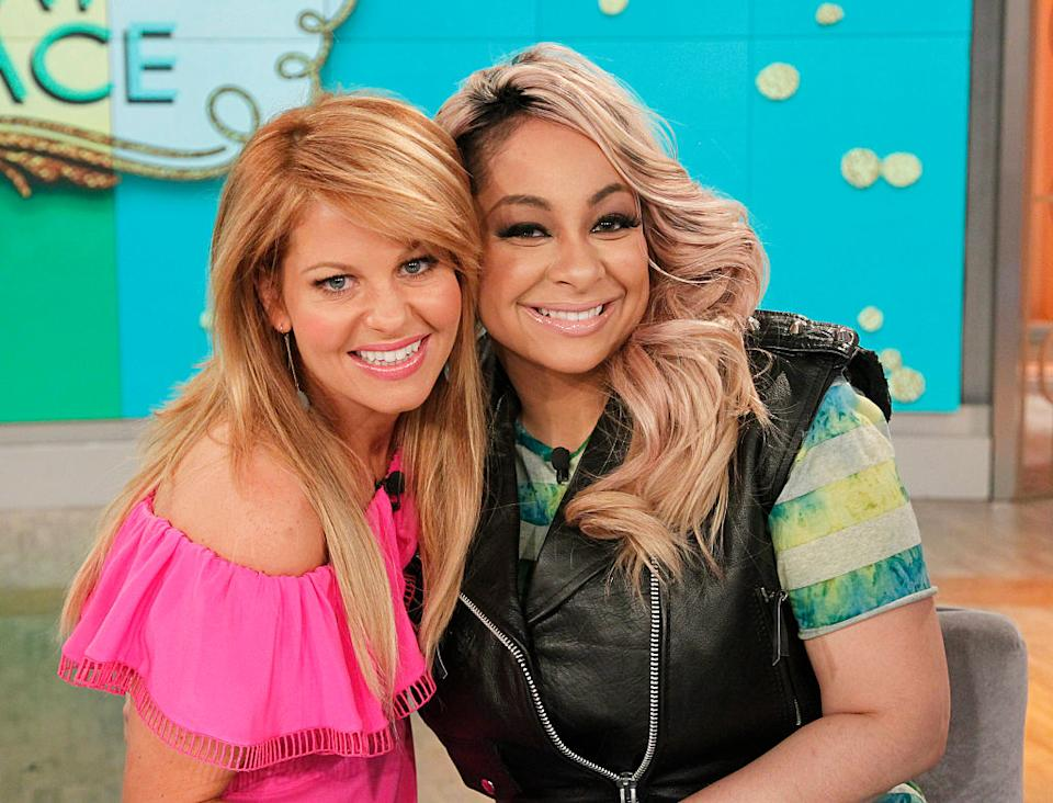 Candace Cameron Bure and Raven-Symoné star in an April 2016 episode of