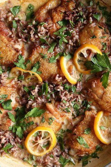 """<p>Warning: You will be addicted to this lemon sauce.</p><p>Get the <a href=""""https://www.delish.com/uk/cooking/recipes/a29982608/creamy-lemon-chicken-with-wild-rice-recipe/"""" rel=""""nofollow noopener"""" target=""""_blank"""" data-ylk=""""slk:Creamy Lemon Chicken with Rice"""" class=""""link rapid-noclick-resp"""">Creamy Lemon Chicken with Rice</a> recipe.</p>"""