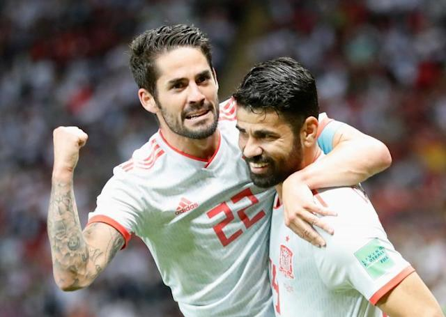 World Cup 2018: Diego Costa strikes lucky to down Iran and help Spain keep pace with Portugal