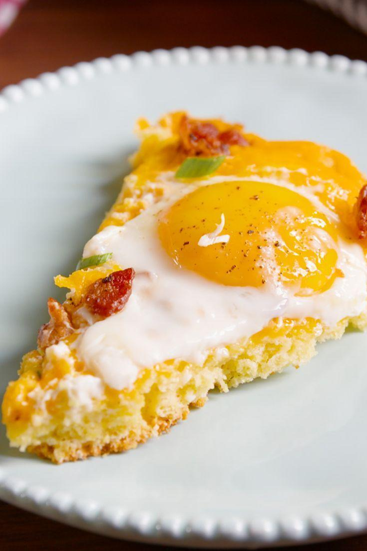 """<p>If you think cornbreads just for chili, you're missing out.</p><p>Get the recipe from <a href=""""/cooking/recipe-ideas/recipes/a49647/cornbread-breakfast-pizza-recipe/"""" data-ylk=""""slk:Delish"""" class=""""link rapid-noclick-resp"""">Delish</a>.</p>"""