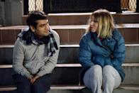 "<p>Married writers Kumail Nanjiani and Emily V. Gordon penned the story of their relationship in the Oscar-nominated <strong><a href=""https://www.popsugar.com/entertainment/Big-Sick-Trailer-43495109"" class=""link rapid-noclick-resp"" rel=""nofollow noopener"" target=""_blank"" data-ylk=""slk:The Big Sick"">The Big Sick</a>. </strong>The rom-com explores Nanjiani's struggling stand-up comedy days, his Pakistani family's disapproval of his romance, and the scary illness that struck Gordon (played by Zoe Kazan) when they were still dating.</p>"