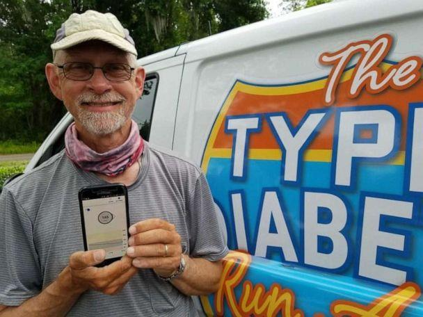 PHOTO: Don Muchow showing his Dexcom app. (Don Muchow)