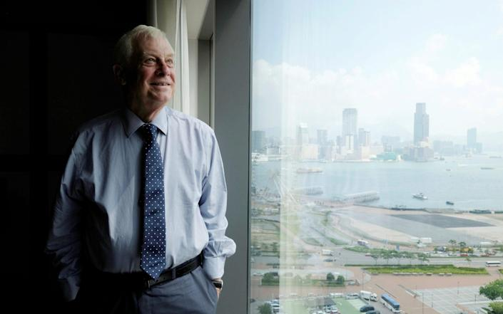 Lord Chris Patten has called for the world to 'reset' their relations with Beijing - Bobby Yip/REUTERS