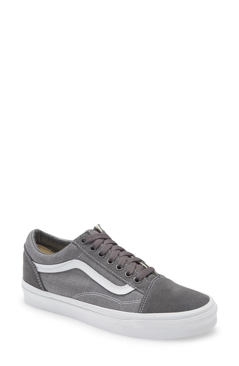 """<p><strong>Vans</strong></p><p>nordstrom.com</p><p><strong>$42.90</strong></p><p><a href=""""https://go.redirectingat.com?id=74968X1596630&url=https%3A%2F%2Fwww.nordstrom.com%2Fs%2Fvans-old-skool-sneaker-unisex%2F5885333&sref=https%3A%2F%2Fwww.menshealth.com%2Fstyle%2Fg37081969%2Fnordstroms-anniversary-sale-best-sneakers%2F"""" rel=""""nofollow noopener"""" target=""""_blank"""" data-ylk=""""slk:BUY IT HERE"""" class=""""link rapid-noclick-resp"""">BUY IT HERE</a></p><p><del>$65</del><strong><br>$42.90</strong></p><p>Embrace your inner skater with a classic style from Vans. Simply put, these are effortlessly cool and timeless.</p>"""