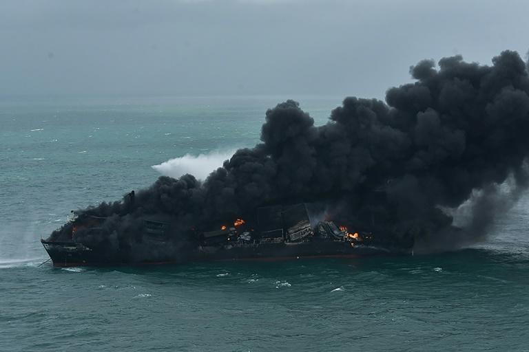 The X-Press Pearl was carrying nearly 1,500 containers, including 25 tonnes of nitric acid, when the fire broke out close to Colombo port