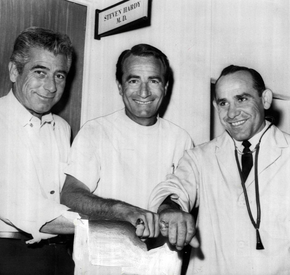 """<p>In 1963, the Yankee player decided to do something a little out of his realm: He accepted an offer to make an appearance on <em>General Hospital</em>. Berra made a cameo as a brain surgeon because he wanted his family to see him act. In his book <em>When You Come To The Fork In The Road, Take It!</em>, Berra <a href=""""https://books.google.com/books?id=NfaYAAAAQBAJ&pg=PT112&lpg=PT112&dq=yogi+berra+general+hospital&source=bl&ots=AutPQwXVUh&sig=240Mx2g0jRqNb56yO3n4DKyM024&hl=en&sa=X&ei=WCC7U-vRK4broATcyYGgCg&ved=0CGsQ6AEwCTgK#v=onepage&q=yogi%20berra%20general%20hospital&f=true"""" rel=""""nofollow noopener"""" target=""""_blank"""" data-ylk=""""slk:wrote"""" class=""""link rapid-noclick-resp"""">wrote</a>, """"And I once was a brain surgeon — no kidding — in a <em>General Hospital</em> episode, in the early '60s. Those were the days before the soaps got sexy.""""</p>"""