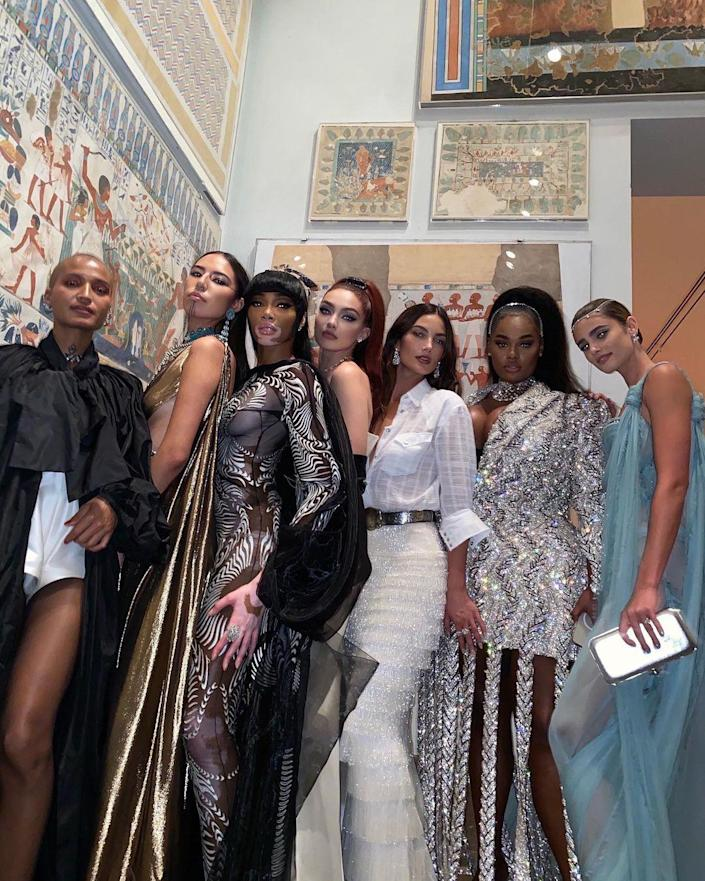 <p>Reaching new heights, Harlow posed with fellow stars and models including Indya Moore, Quannah Chasinghorse, Gigi Hadid, Lily Aldridge, Precious Lee and Taylor Hill. </p>