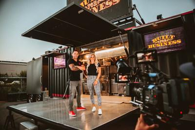"""Cameron and Kaycee Davies show off one of Cruising Kitchens' incredible build outs for their new series, """"Built For Business"""" Coming to MotorTrend TV August 20th. Check local listings for air times."""