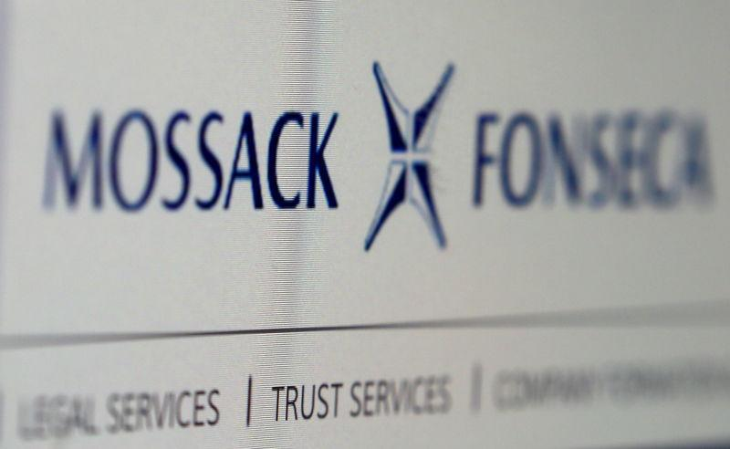 File picture illustration of website of the Mossack Fonseca law firm