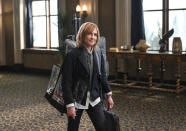 """This image released by NBC shows Holly Hunter in a scene from the new comedy """"Mr. Mayor,"""" premiering on Thursday. (Mitchell Haddad/NBC via AP)"""