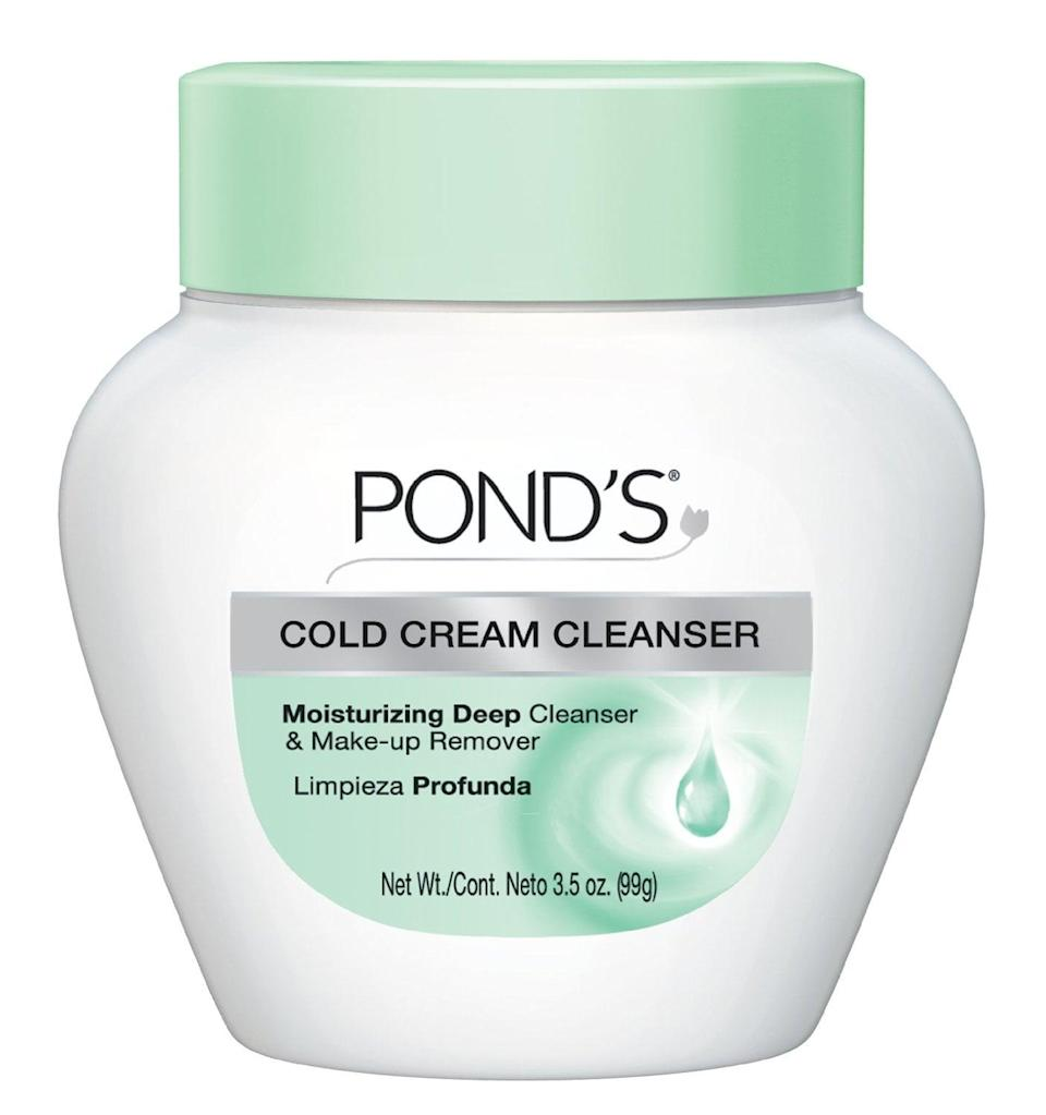 <p>You can never go wrong with the <span>Pond's Cold Cream Cleanser</span> ($5). It put cold creams on the map and is the OG multifunctional product!</p>