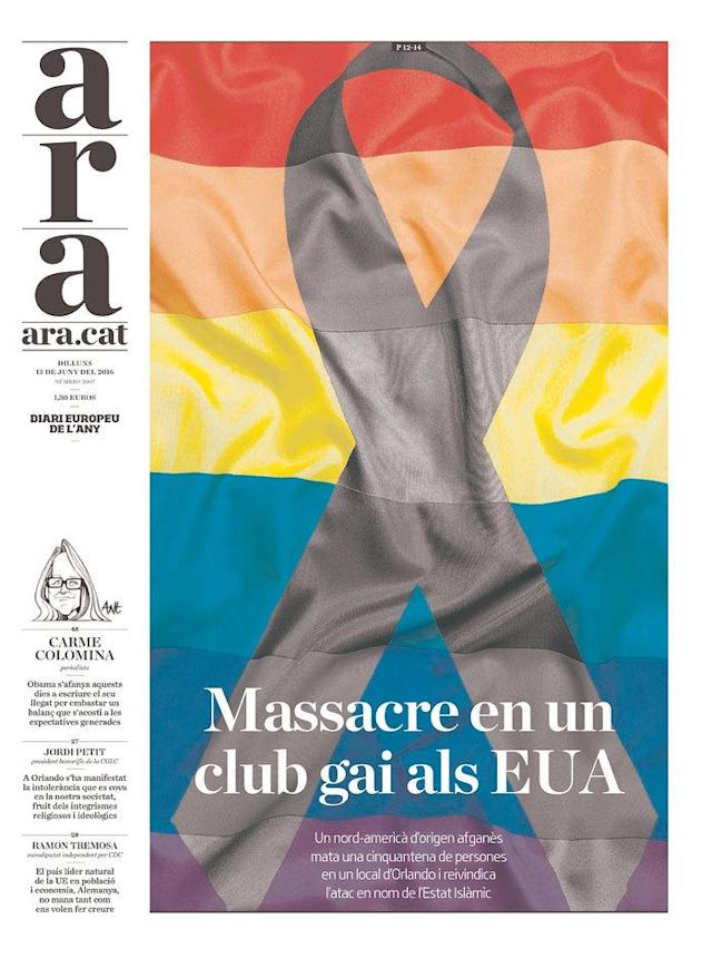 <p>ARA, Published in Barcelona, Spain. (Newseum) </p>