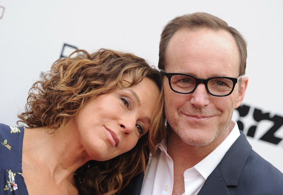Jennifer Grey and Clark Gregg  at the Los Angeles premiere of Trust Me on May 22, 2014
