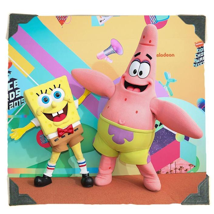 """<p><strong>Rubie's</strong></p><p>amazon.com</p><p><strong>$32.68</strong></p><p><a href=""""https://www.amazon.com/COMARWU-Inflatable-Patrick-Costume-Halloween/dp/B095817QRW/ref=sr_1_7?dchild=1&keywords=patrick+star+costume&qid=1628281764&sr=8-7&tag=syn-yahoo-20&ascsubtag=%5Bartid%7C2089.g.1771%5Bsrc%7Cyahoo-us"""" rel=""""nofollow noopener"""" target=""""_blank"""" data-ylk=""""slk:Shop Costume"""" class=""""link rapid-noclick-resp"""">Shop Costume</a></p><p>Team up with your favorite <a href=""""https://www.amazon.com/Rubies-Adult-Sponge-Costume-Spongebob/dp/B003D7YL0W/ref?tag=syn-yahoo-20&ascsubtag=%5Bartid%7C2089.g.1771%5Bsrc%7Cyahoo-us"""" rel=""""nofollow noopener"""" target=""""_blank"""" data-ylk=""""slk:Spongebob pal"""" class=""""link rapid-noclick-resp""""><em>Spongebob</em> pal</a> and head out on Halloween night in this inflatable Patrick Star costume. Bonus: it'll help you keep your distance from others on Halloween.</p>"""